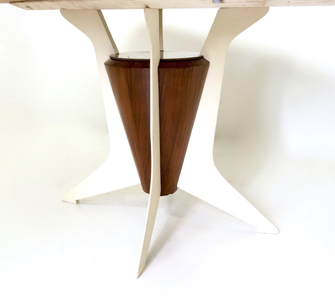 Table de salle manger en bois avec plateau en marbre de carr re italie 1950s en vente sur pamono - Table salle a manger plateau marbre ...