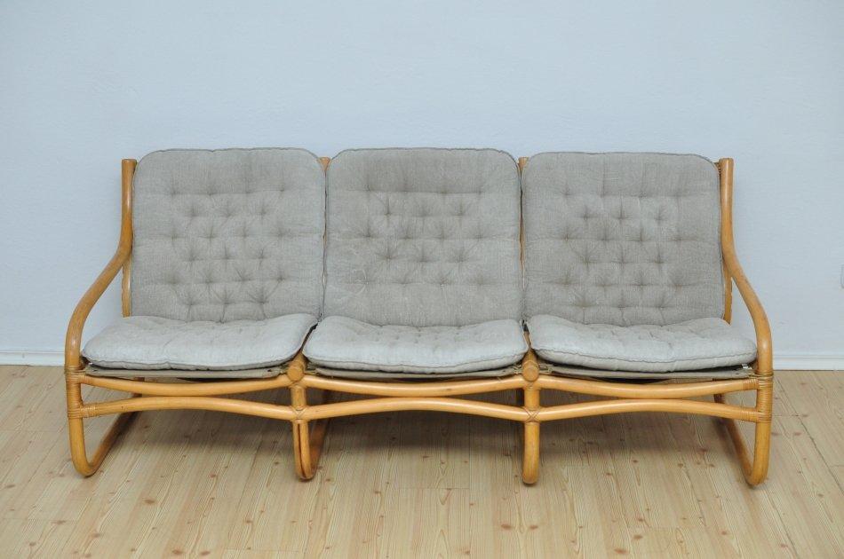 Vintage Rattan Sofa 1970s