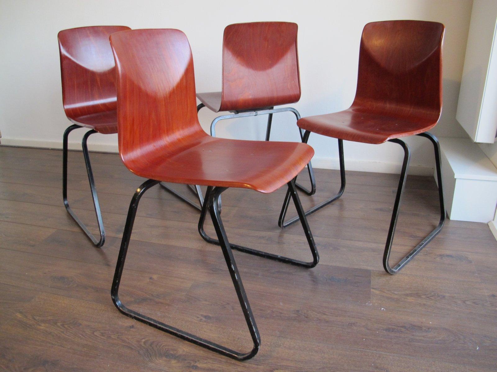 Sedie vintage industriali di Galvanitas Thur op Seat, anni \'60, set ...
