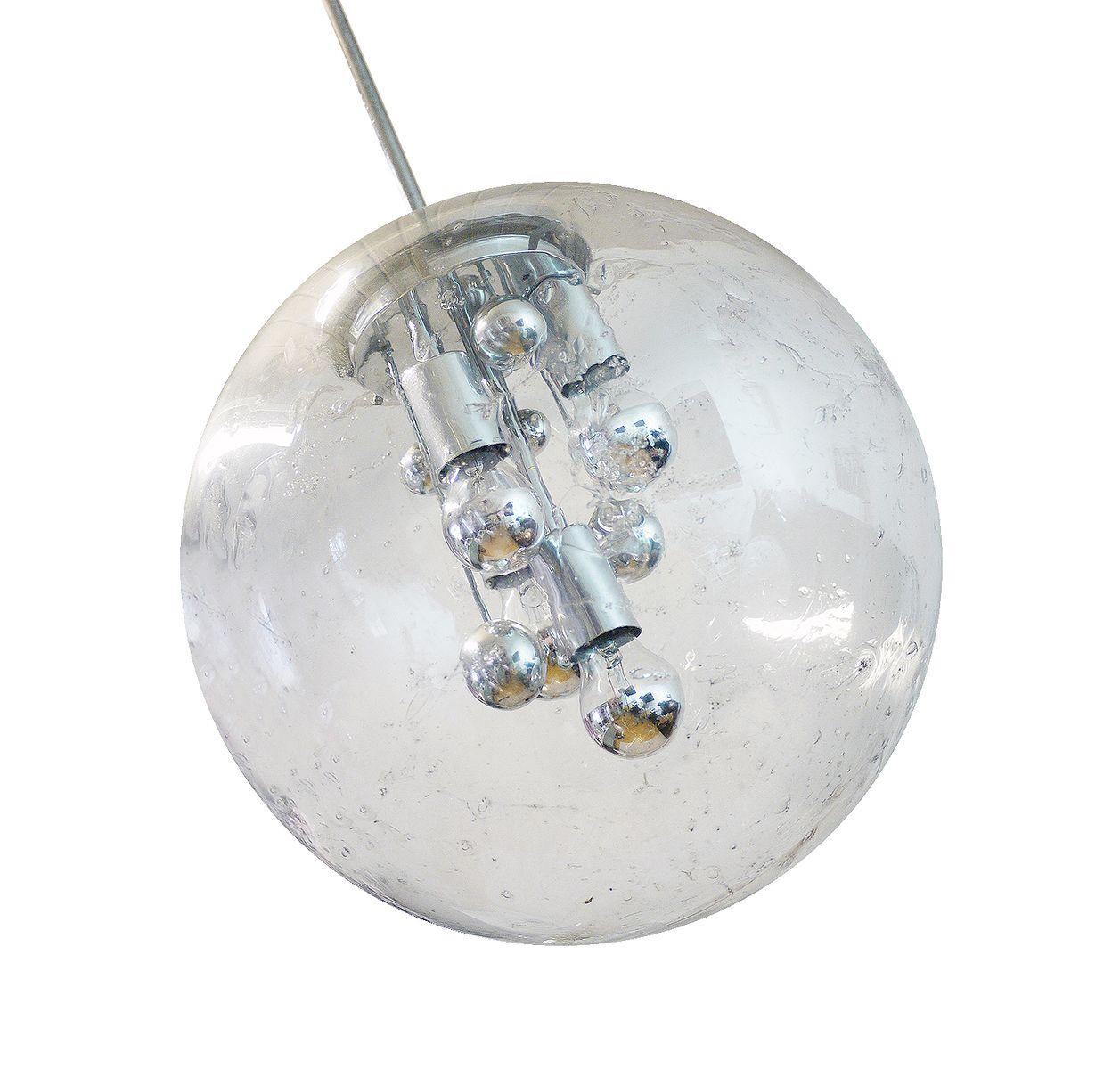Space Age Sputnik Kugelleuchte von Doria, 1970er