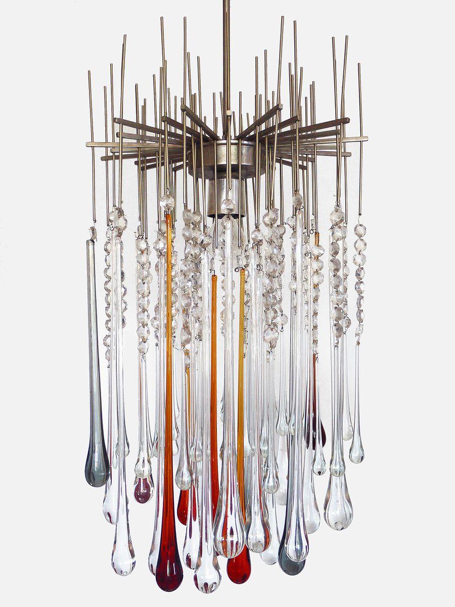 Murano Glas Deckenlampe, 1960er