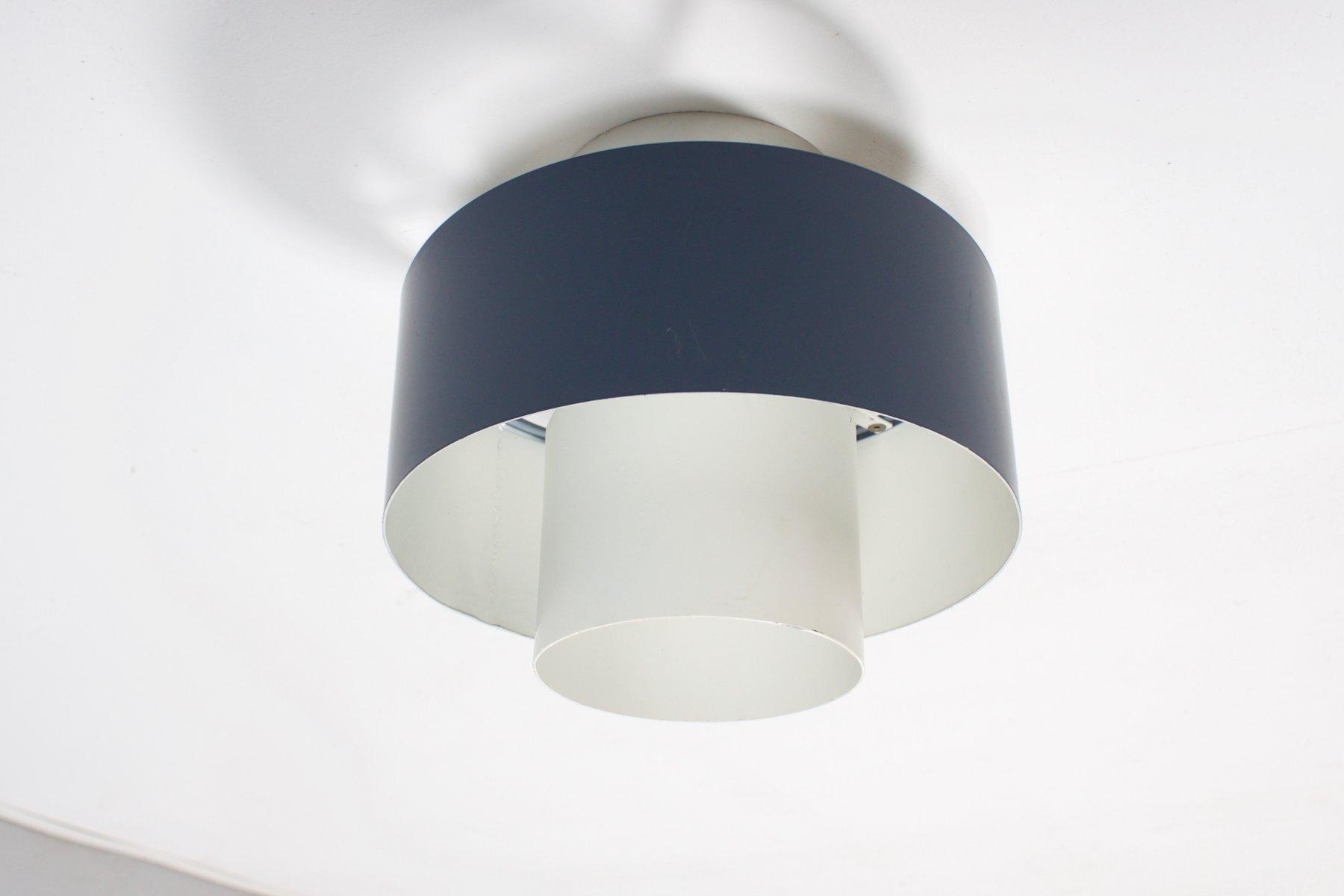 Industrielle Vintage 1/3 Einbau- Deckenlampe von Louis Kalff für Phili...