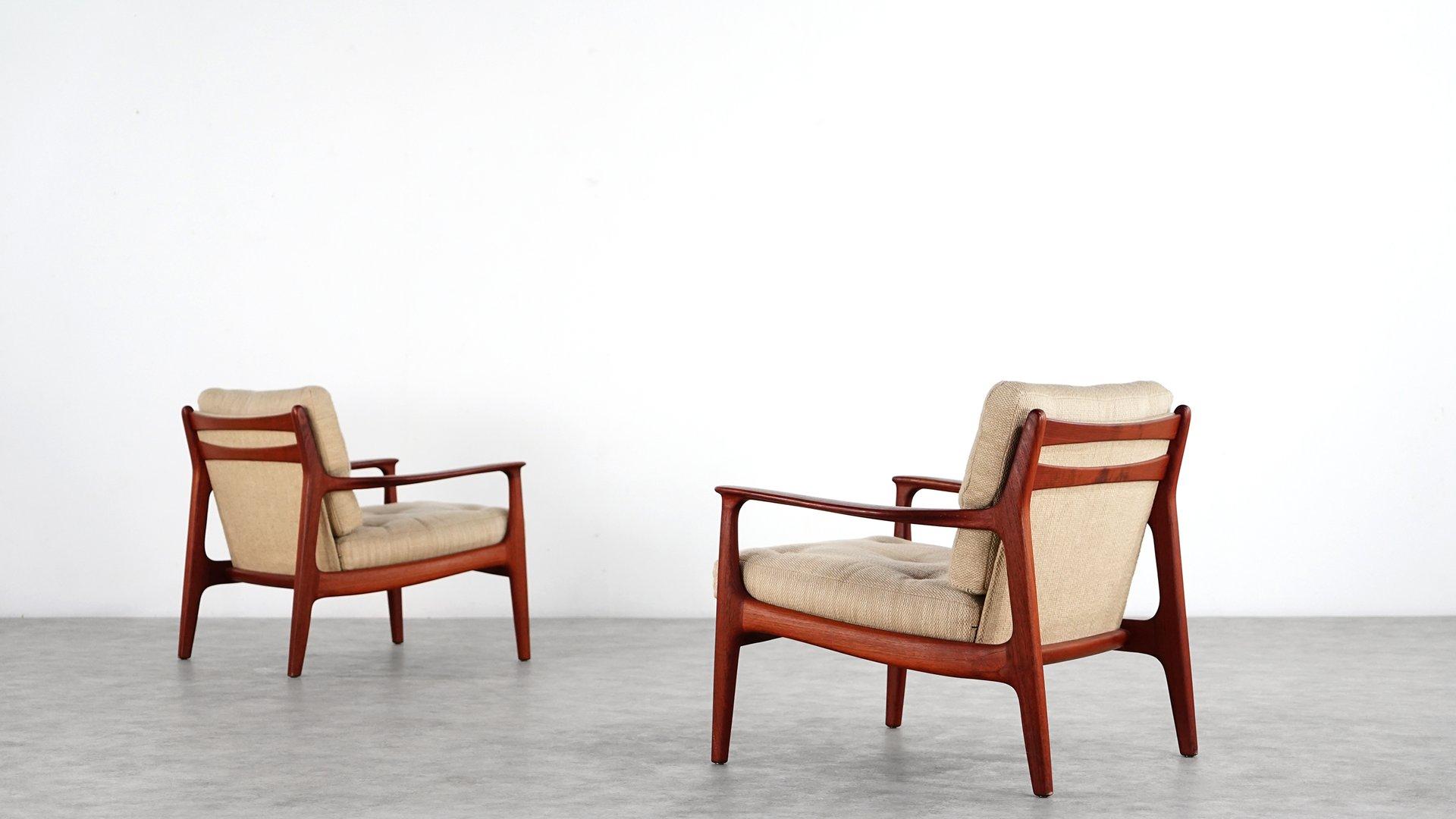 mid century teak sessel von eugen schmidt f r soloform fs inspire. Black Bedroom Furniture Sets. Home Design Ideas