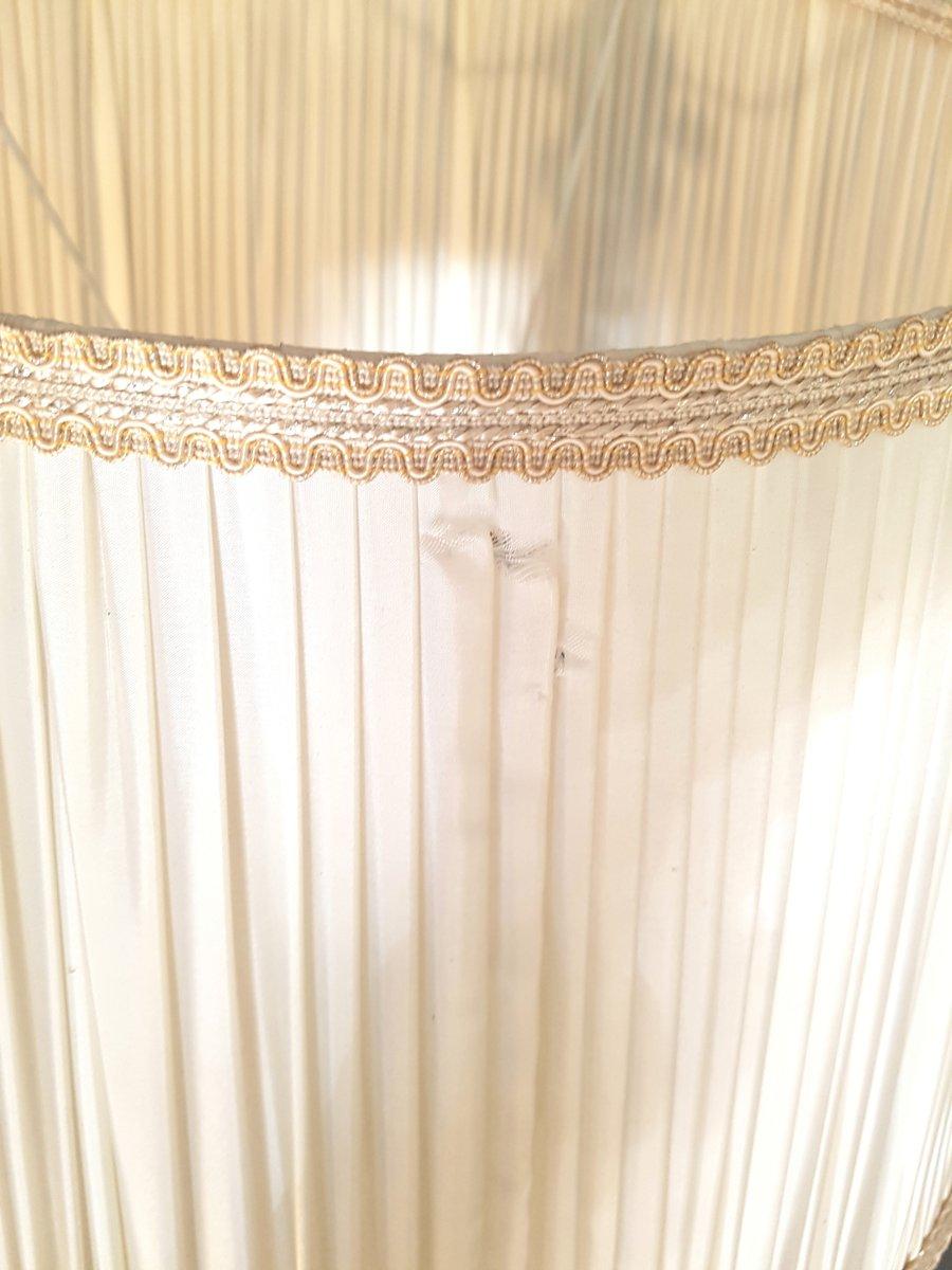 Lampada da tavolo in ferro battuto e vetro anni 39 40 in vendita su pamono - Tavolo ferro battuto e vetro ...