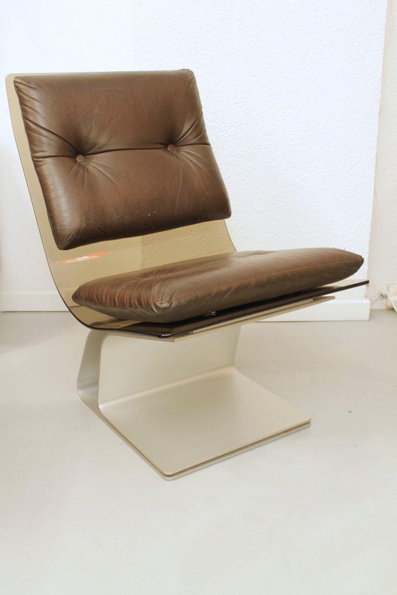 Sessel aus Glas von Maison Jansen, 1970er
