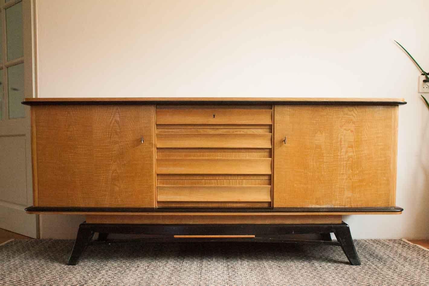 Niederländisches Vintage Teak Sideboard