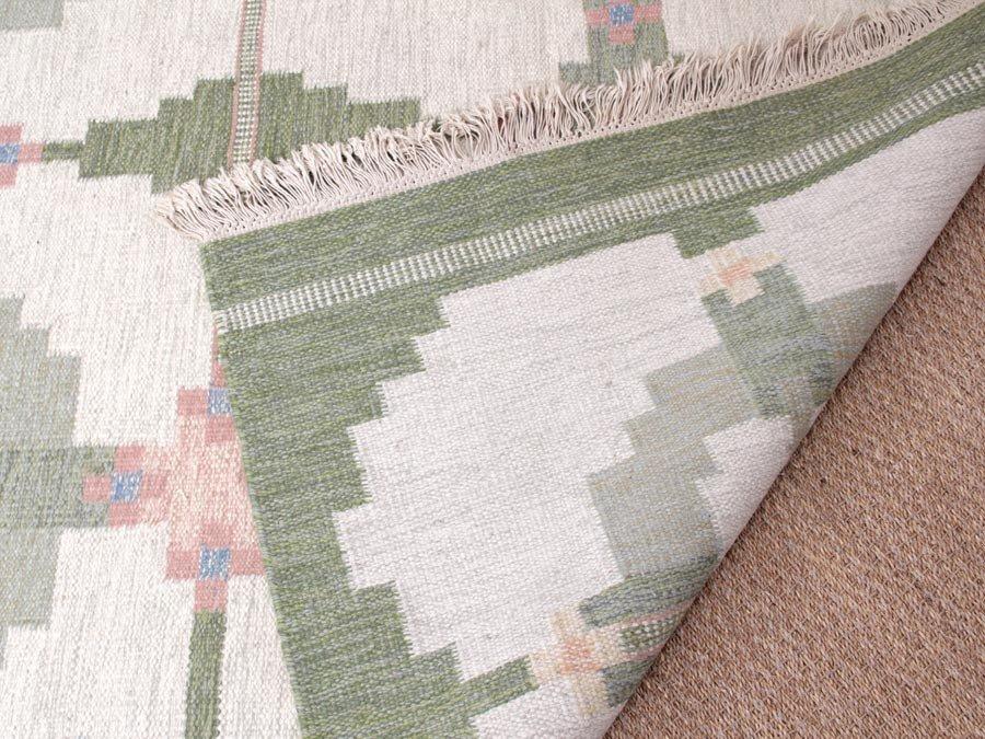 gro er schwedischer vintage rolakan teppich aus handgewebter wolle bei pamono kaufen. Black Bedroom Furniture Sets. Home Design Ideas