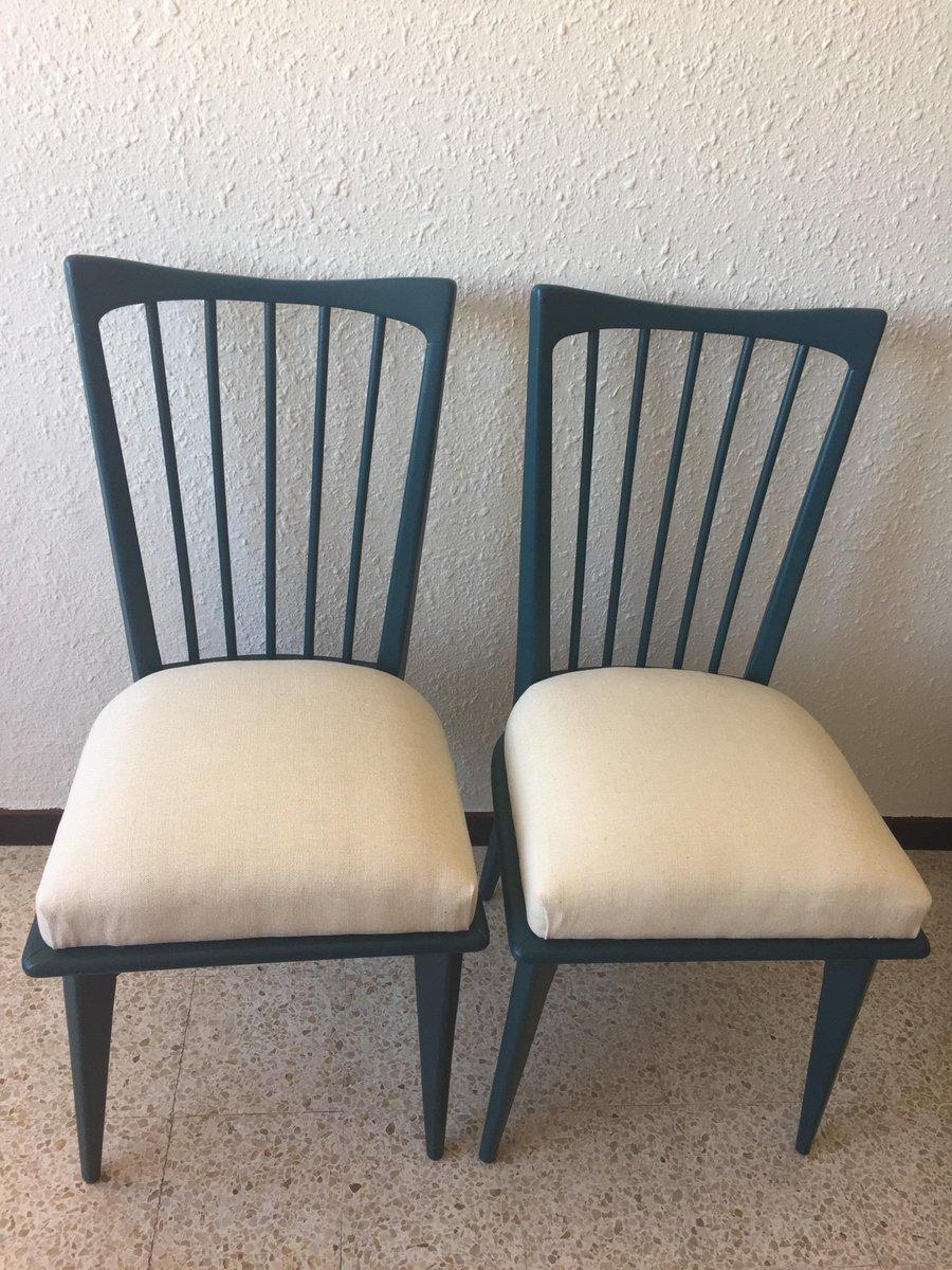 blaue vintage st hle 6er set bei pamono kaufen. Black Bedroom Furniture Sets. Home Design Ideas