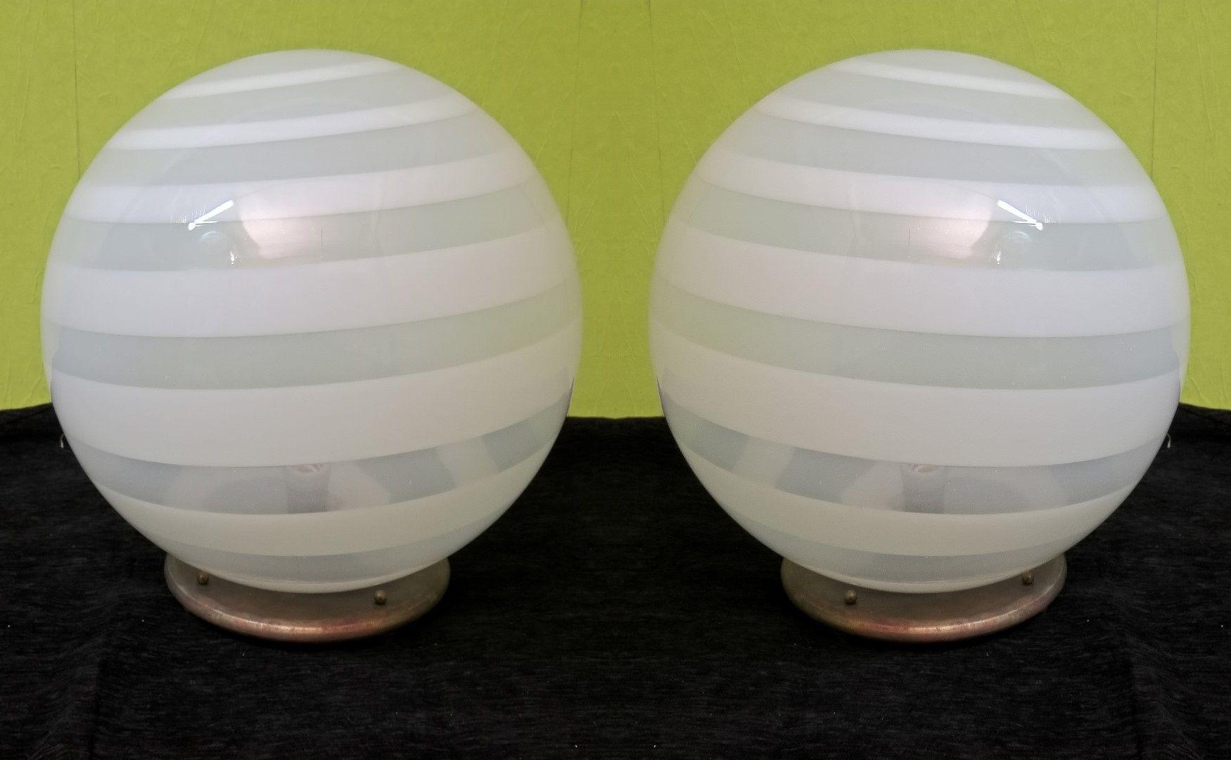 Murano Tischlampen, 1970er, 2er Set