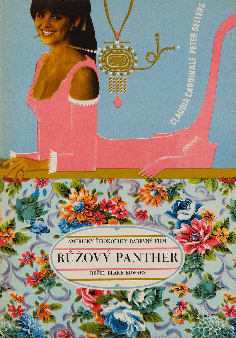 Rosaroter Panther Plakat von Bedřich Dlouhý, 1966