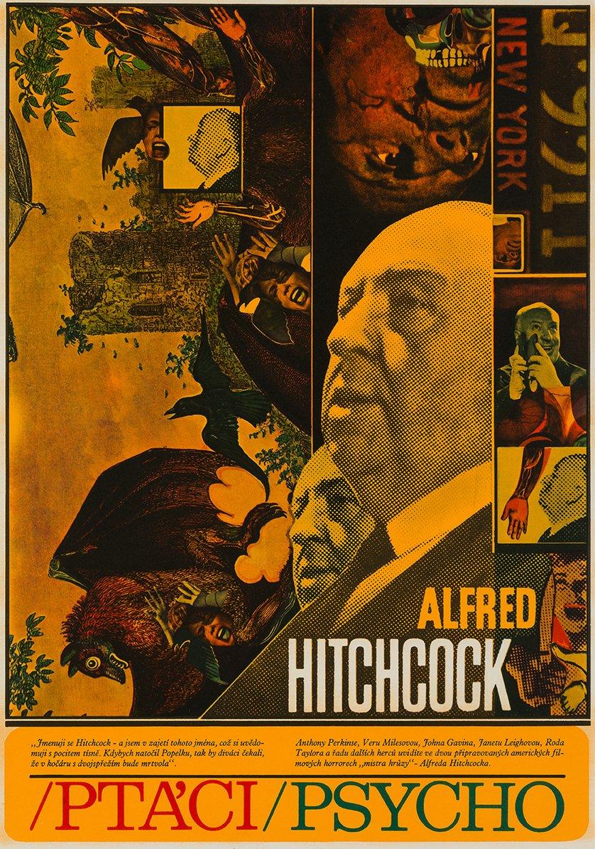 Die Vögel & Psycho Poster von Zdenek Ziegler, 1970