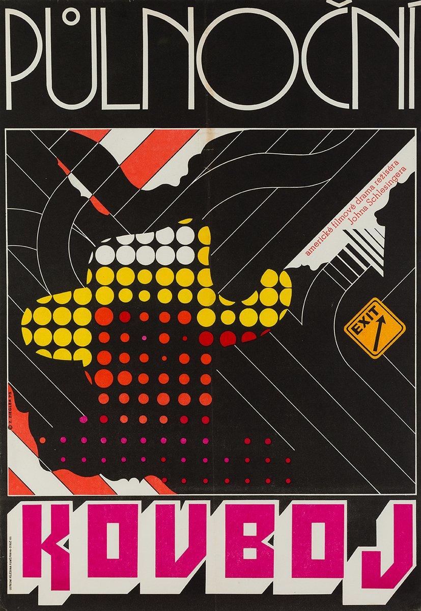 Asphalt-Cowboy Poster von Zdenek Ziegler, 1973