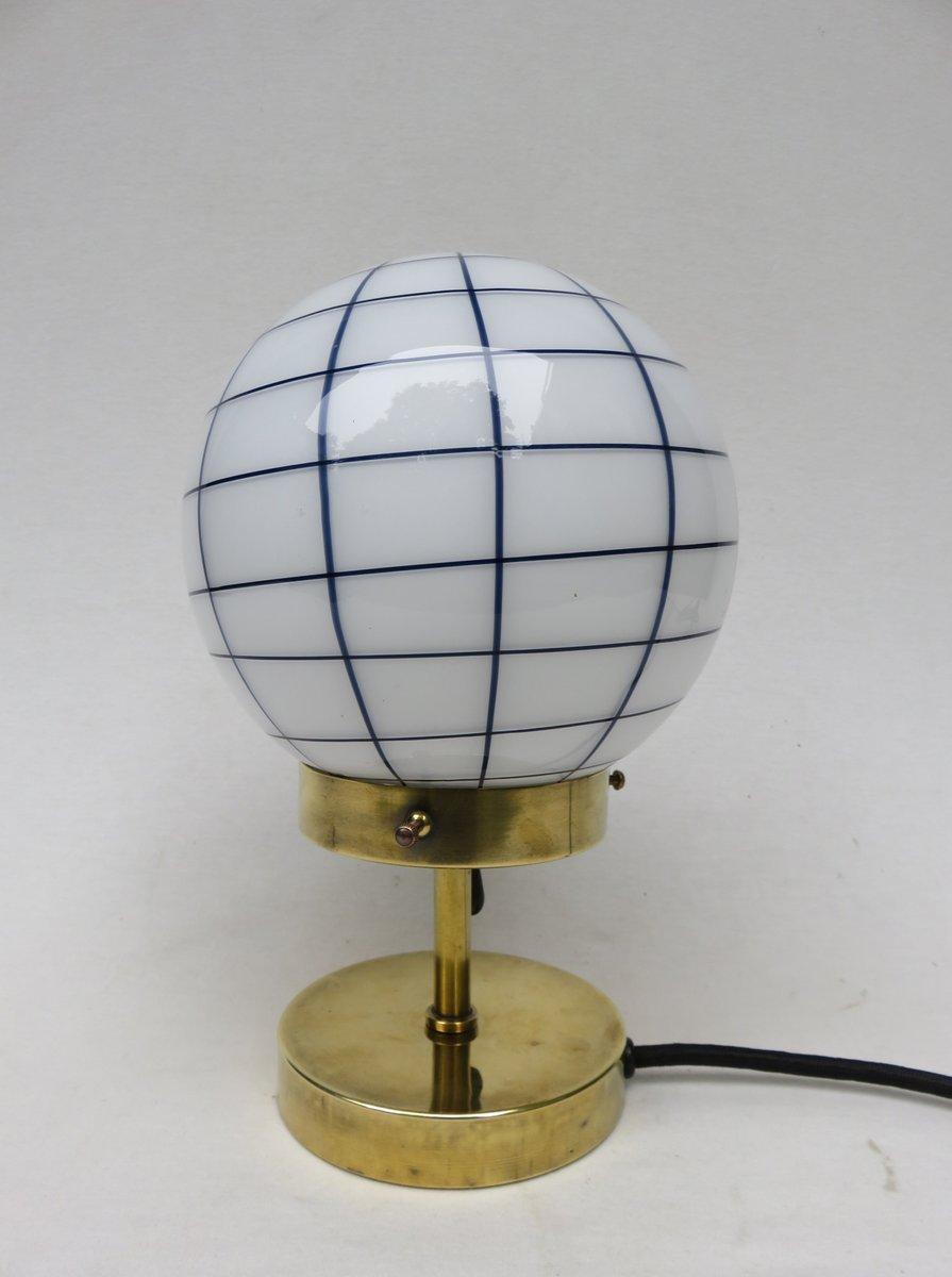 Kleine Vintage Art Deco Messing Tischlampe