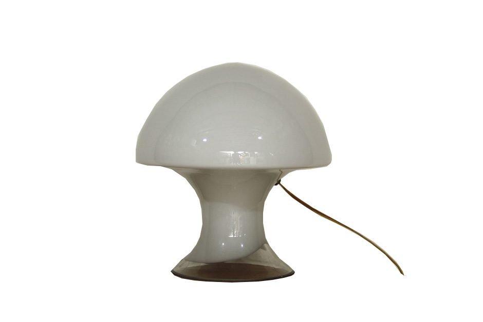 Mushroom Murano Glas Tischlampe von Gino Vistosi, 1960er
