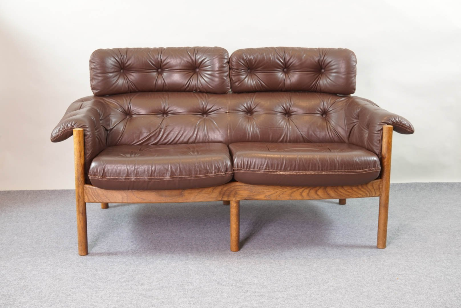 Vintage Tufted Leather Sofa by Arne Norell for Coja for ...