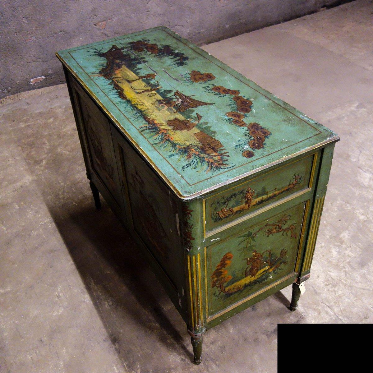 meuble fait la main avec peinture chinoiserie 18 me si cle en vente sur pamono. Black Bedroom Furniture Sets. Home Design Ideas