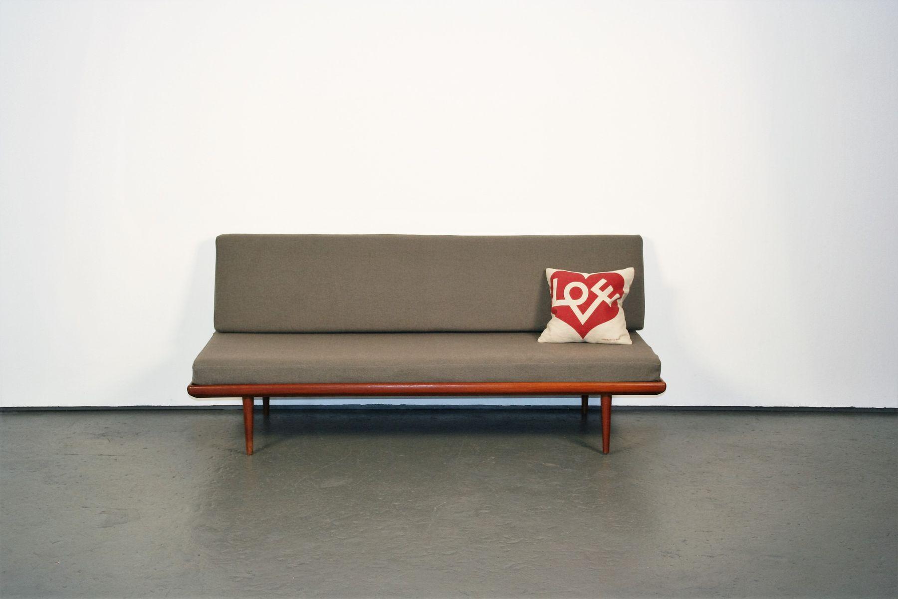minerva daybed sofa in teak by peter hvidt orla mlgaard nielsen for france sn - Daybed Sofa