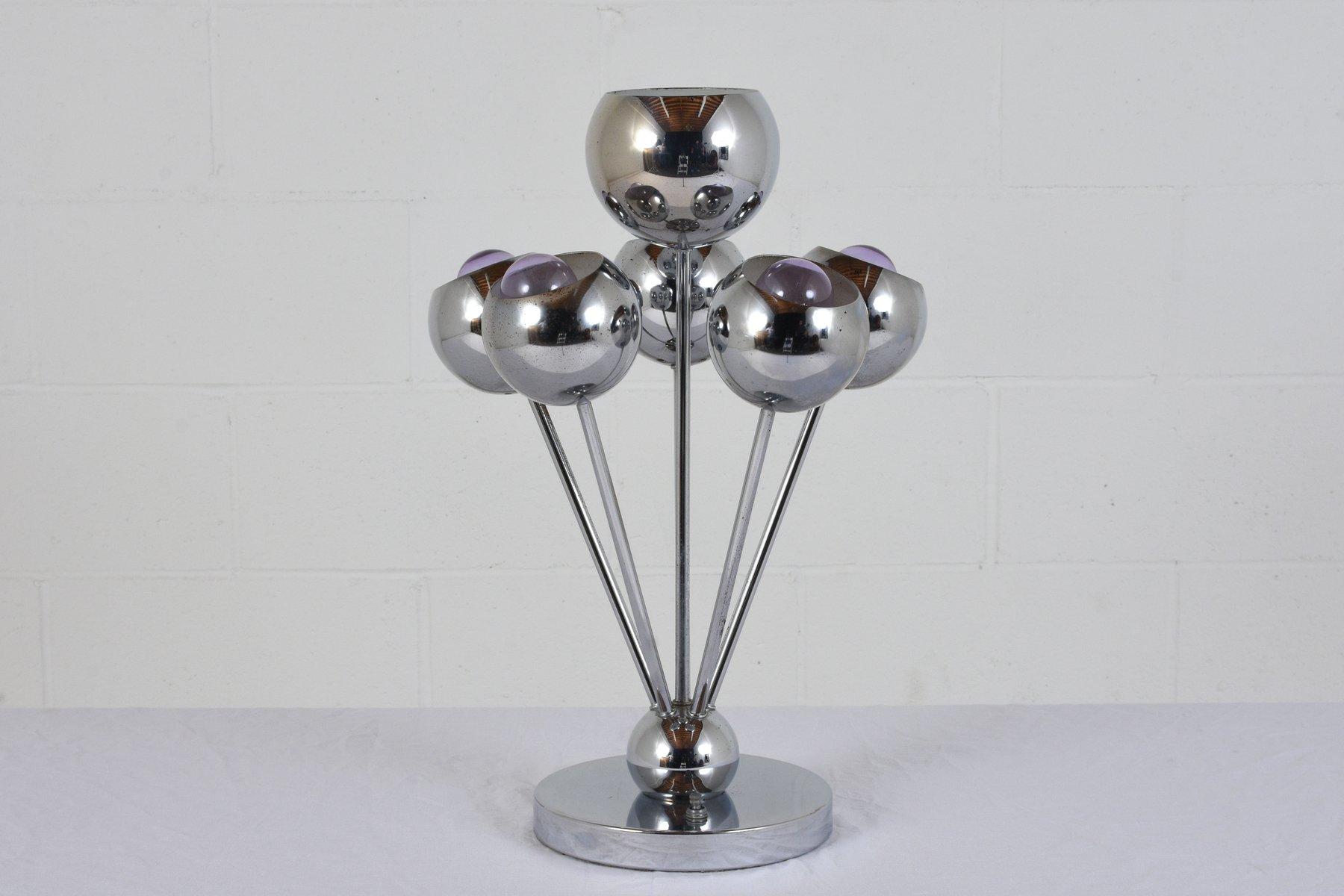 Mid-Century Tischlampe aus Chrom, 1960er