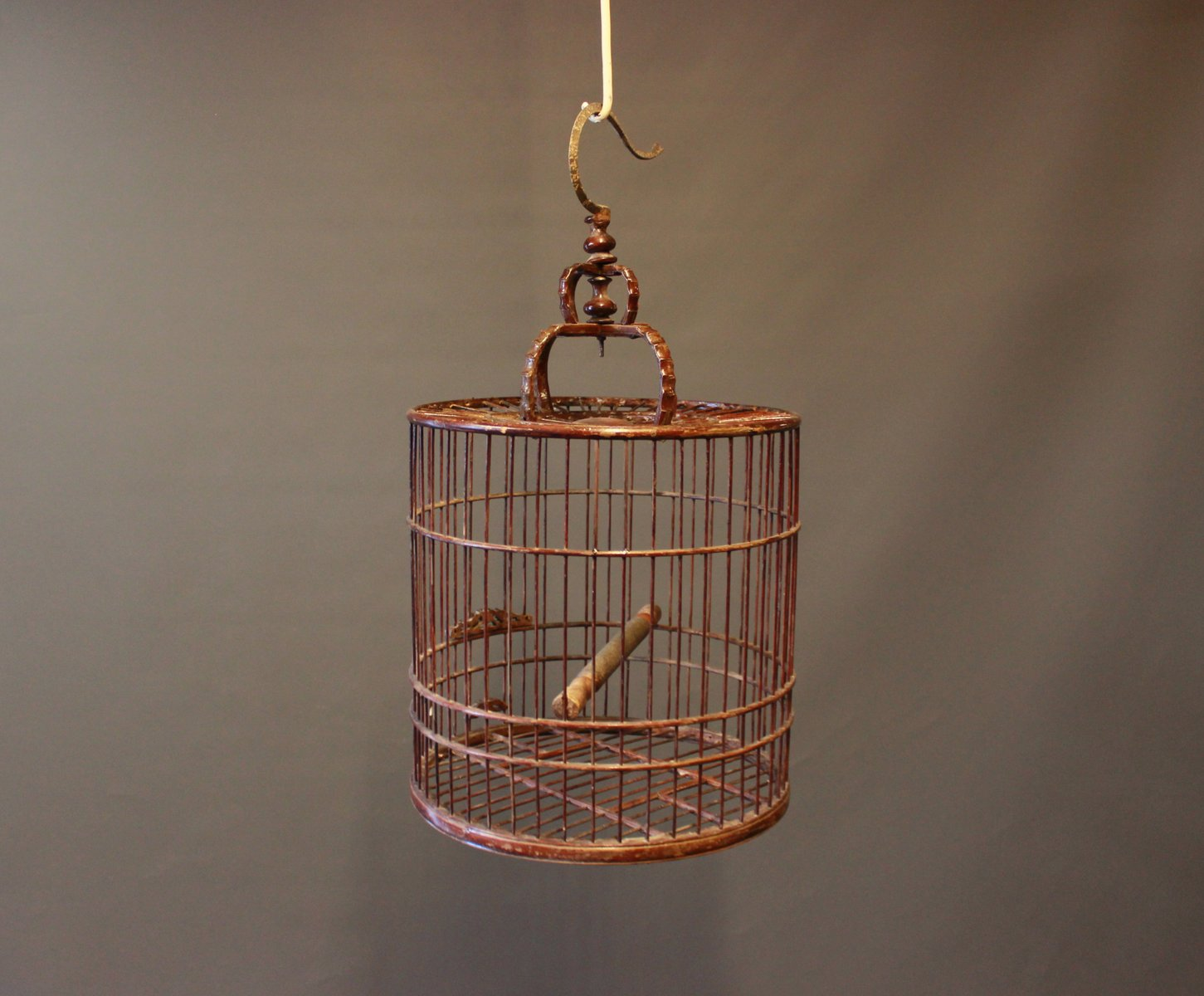 Chinesischer Holz Vogelkäfig, 1930er | Garten > Tiermöbel | Braun | Holz