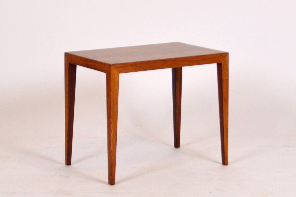 Mid Century Rosewood Side Table By Severin Hansen For Haslev Mobelsnedkeri