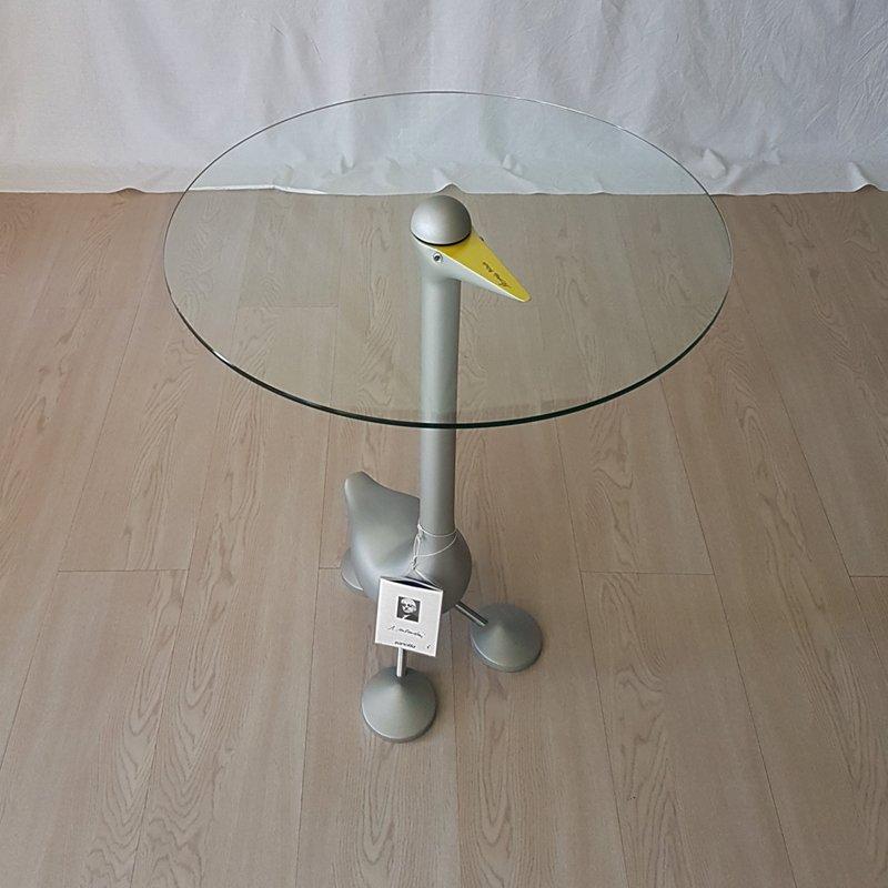 Sirfo Couchtisch aus Glas & Aluminium von A. Mendini für Zanotta, 1990...