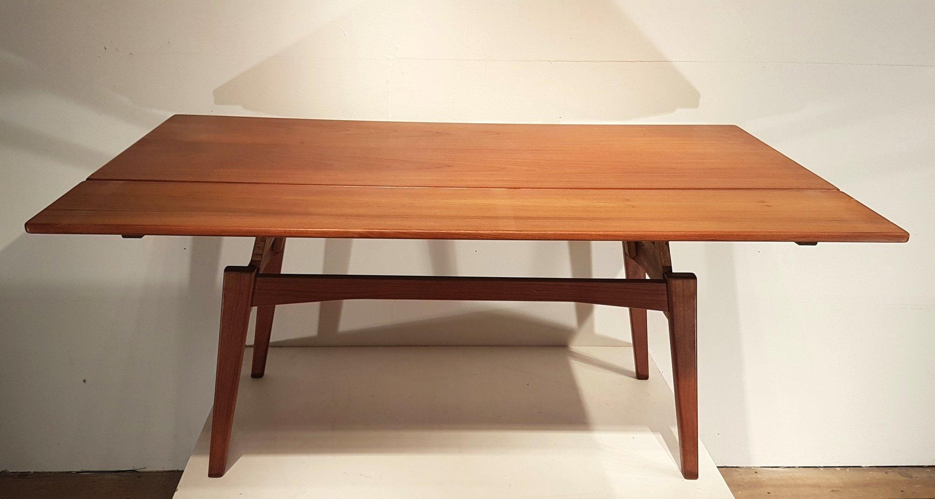 table r glable en hauteur vintage par kai kristiansen en. Black Bedroom Furniture Sets. Home Design Ideas