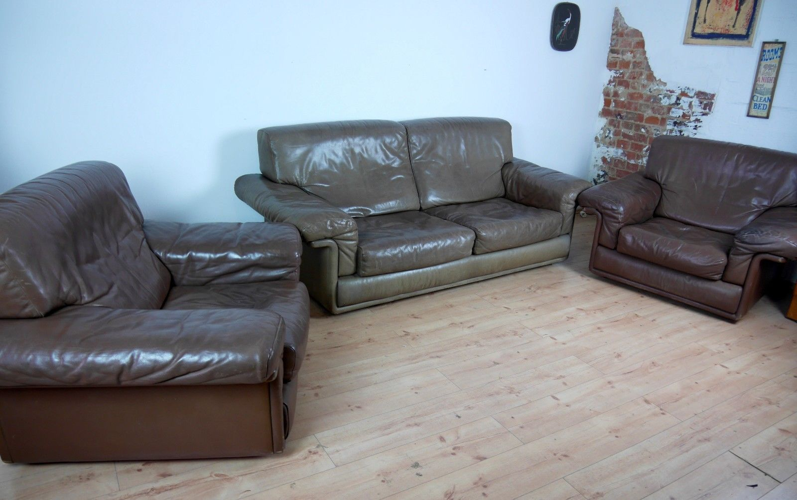 Ds For Living Room   Vintage Ds 68 Leather Living Room Set From De Sede For Sale At Pamono