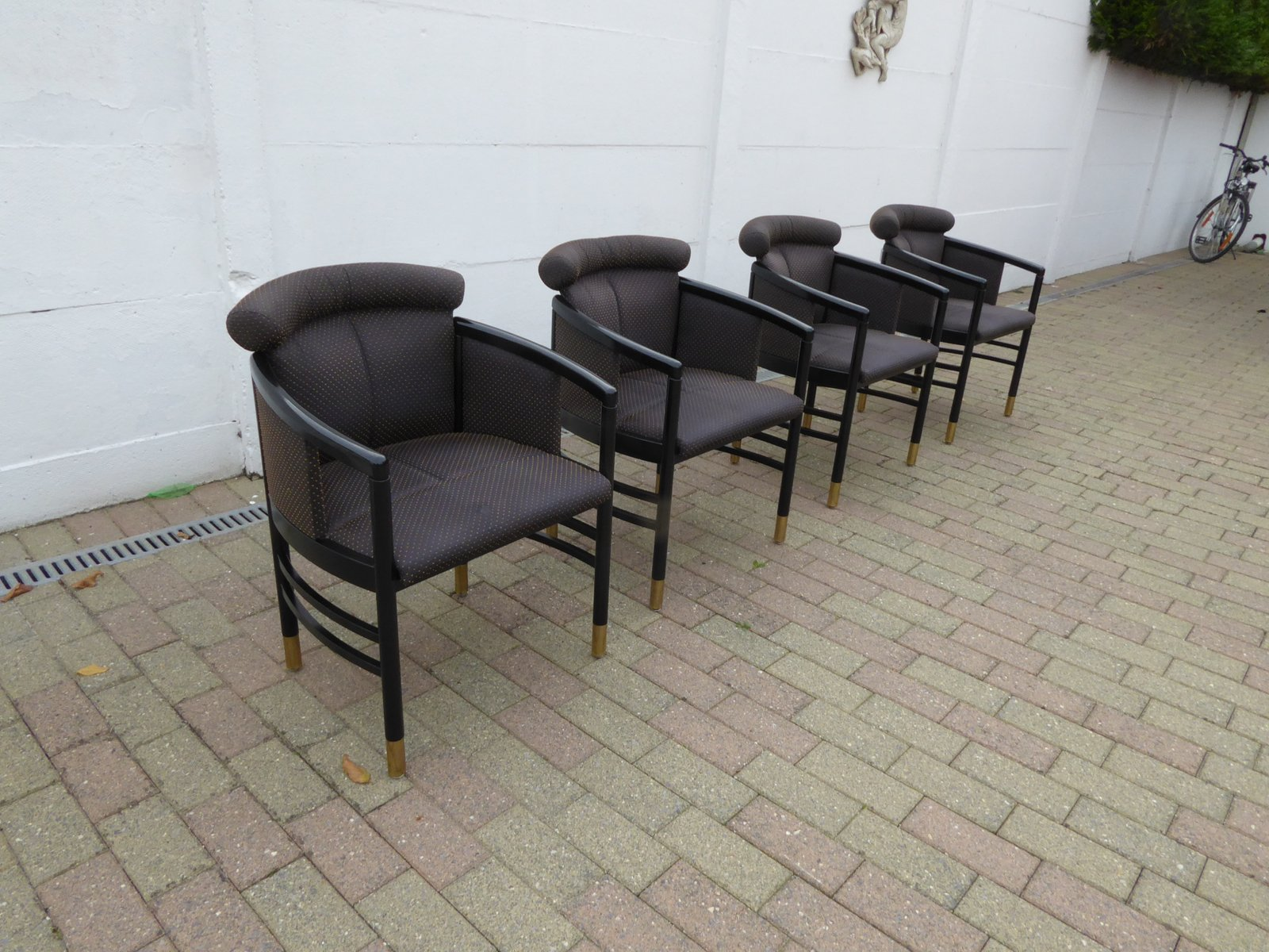 fauteuil noir de thonet autriche 1980s en vente sur pamono. Black Bedroom Furniture Sets. Home Design Ideas