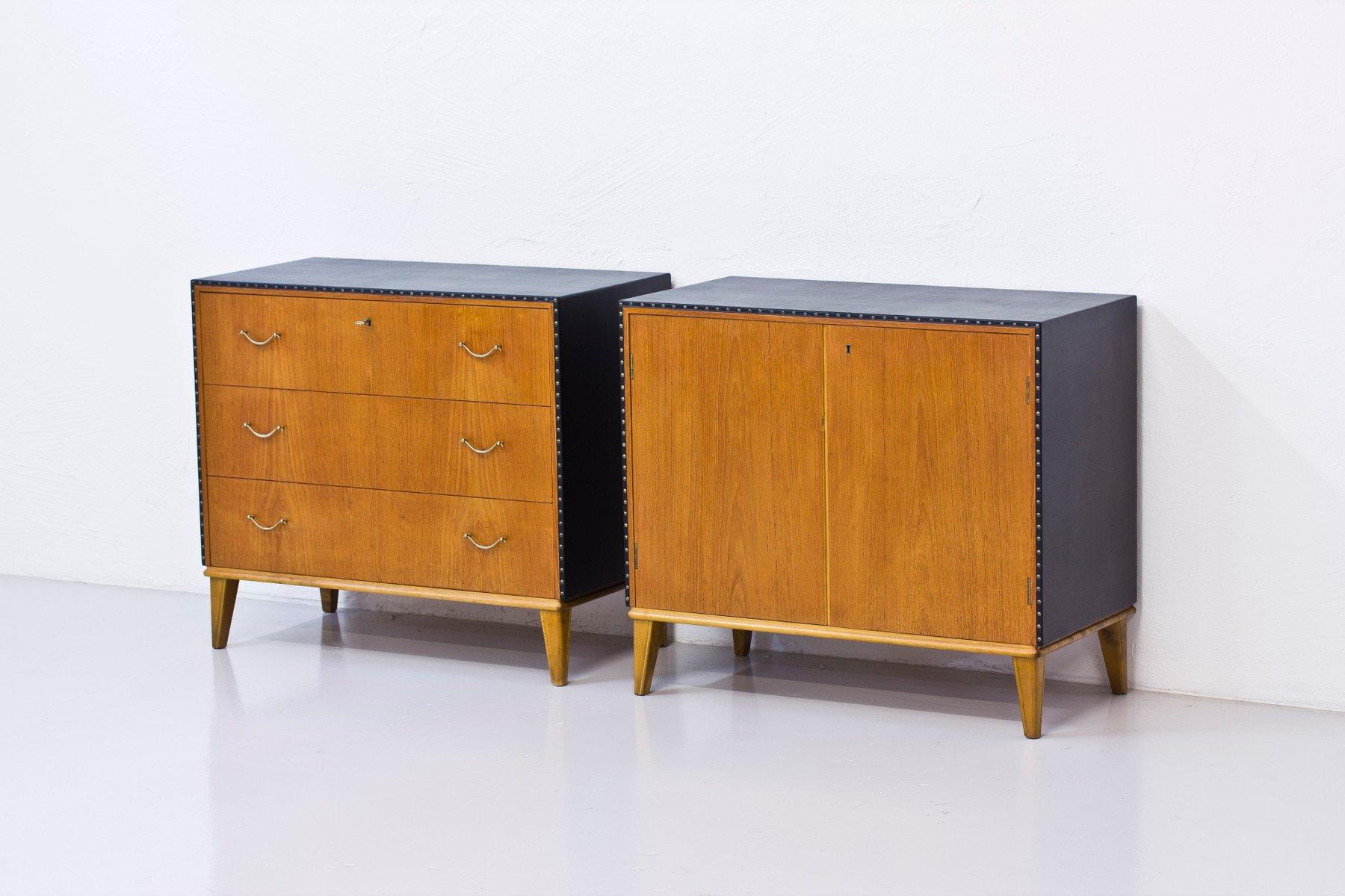 passende schwedische kommode und schrank 1940er bei pamono kaufen. Black Bedroom Furniture Sets. Home Design Ideas