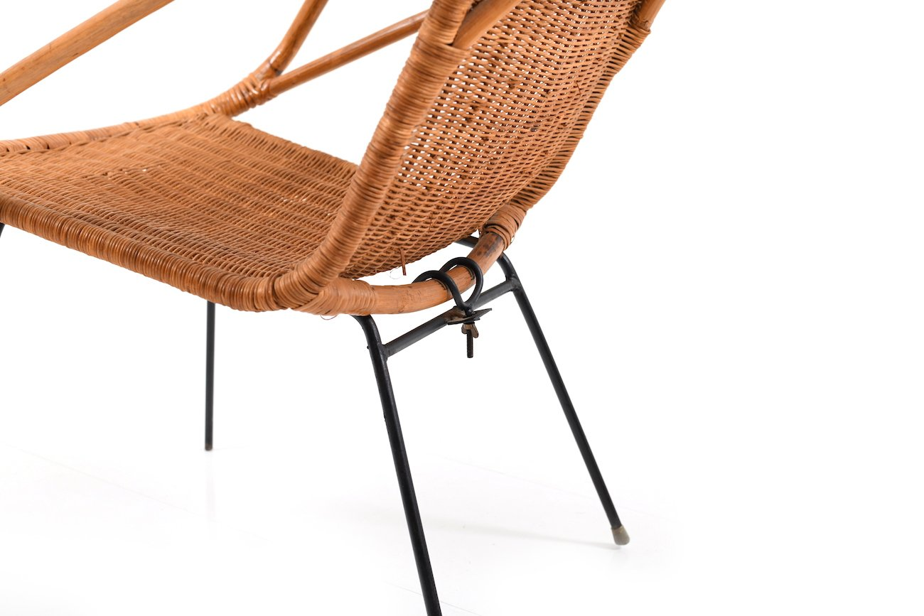 chaise en rotin danemark 1940s en vente sur pamono. Black Bedroom Furniture Sets. Home Design Ideas