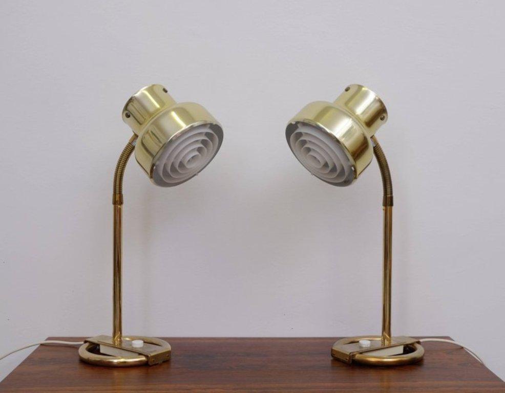 Bumlingen Messing Tischlampen von Anders Pehrson für Ateljé Lyktan, 19...