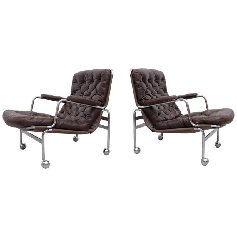 Model Karin Easy Chairs By Bruno Mathsson For DUX, 1960s, Set Of 2