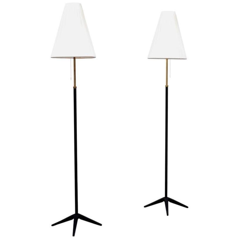 Schwedische Stehlampen, 1950er, 2er Set