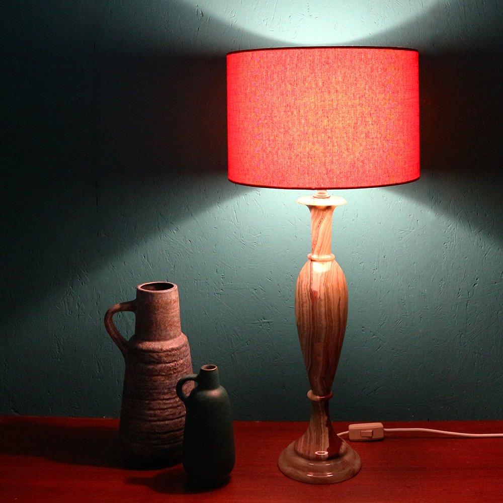 Lampada da tavolo con base in marmo anni 39 60 in vendita su pamono - Base lampada da tavolo ...