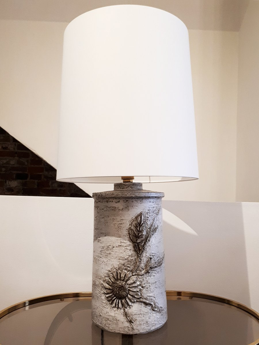 Große Keramik Tischlampe von Huguette & Marius Bessone für Vallauris, ...