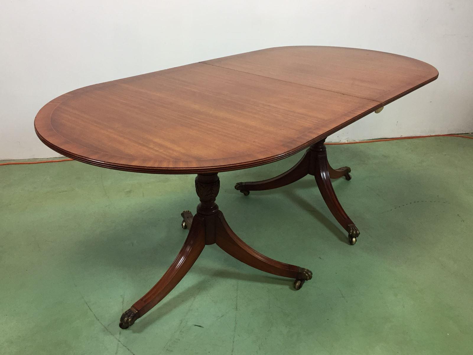 ausziehbarer mid century tisch aus mahagoni bei pamono kaufen. Black Bedroom Furniture Sets. Home Design Ideas