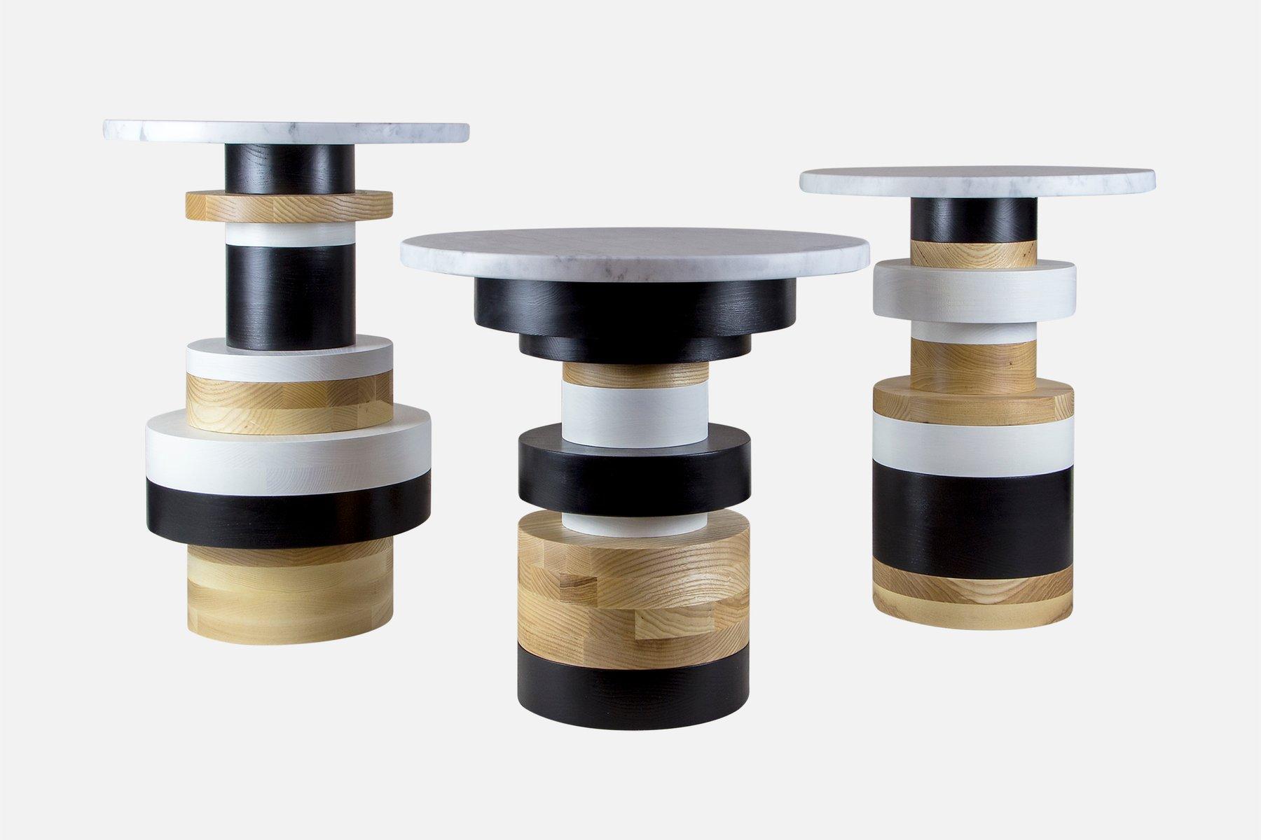 sass side table medium mit 14 marmor tischplatte von mpgmb f r souda bei pamono kaufen. Black Bedroom Furniture Sets. Home Design Ideas