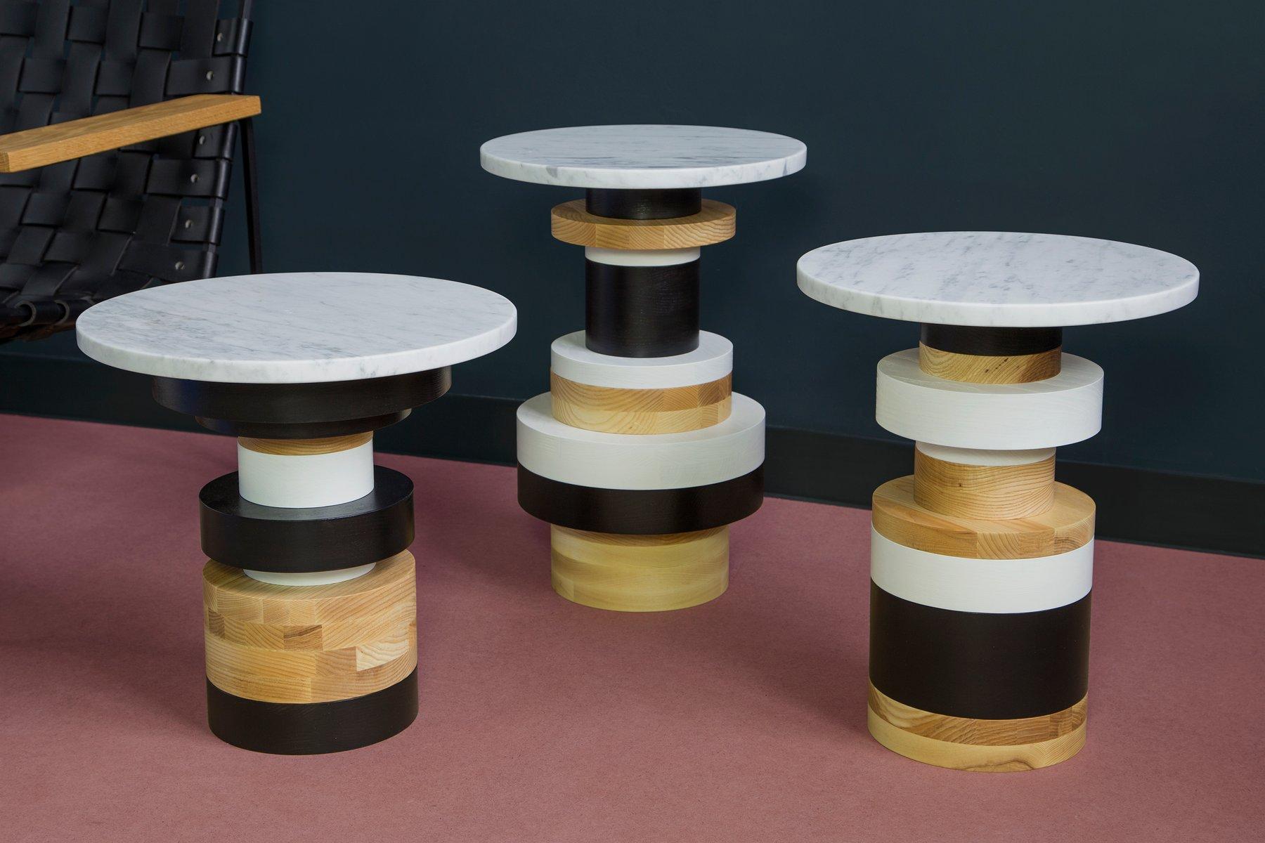 table d 39 appoint sass haute avec plateau 14 en marbre par mpgmb pour souda en vente sur pamono. Black Bedroom Furniture Sets. Home Design Ideas
