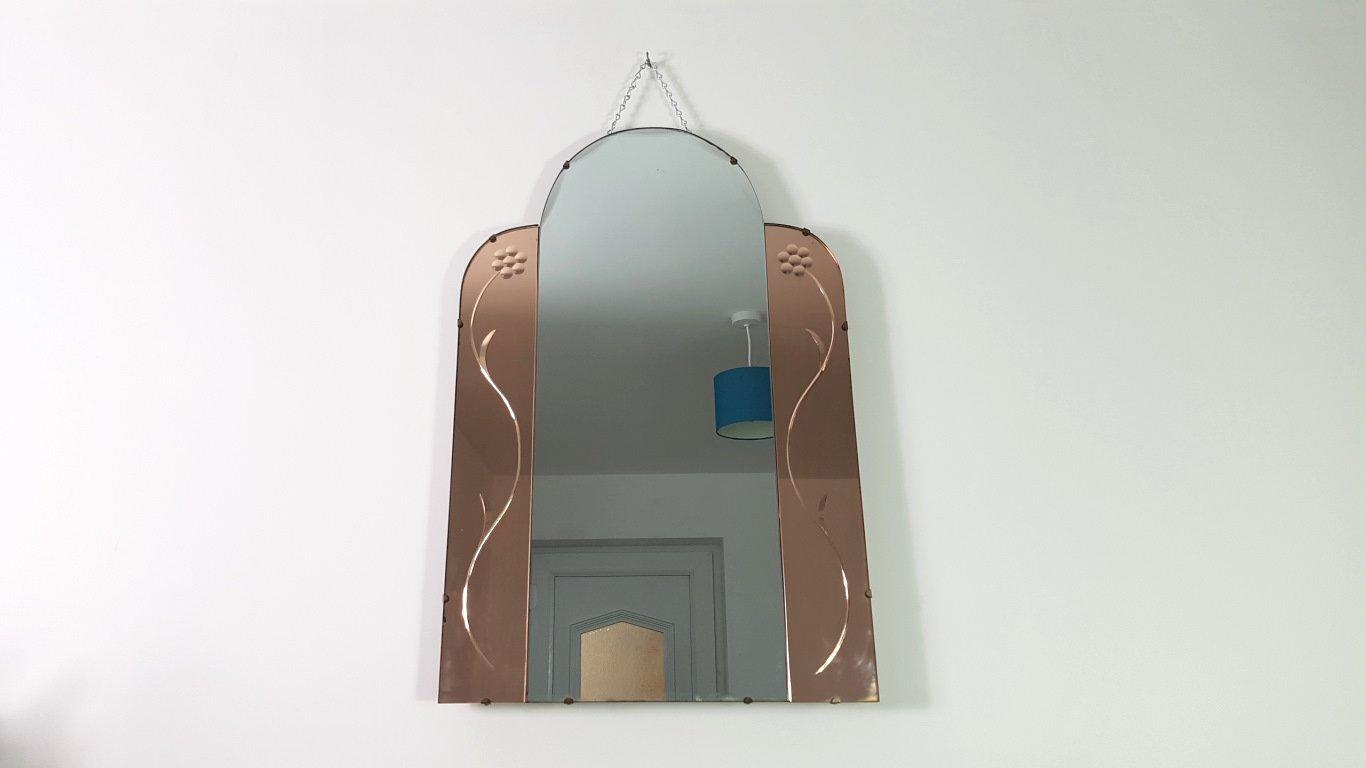 Miroir vintage sans cadre en vente sur pamono for Miroir rond sans cadre