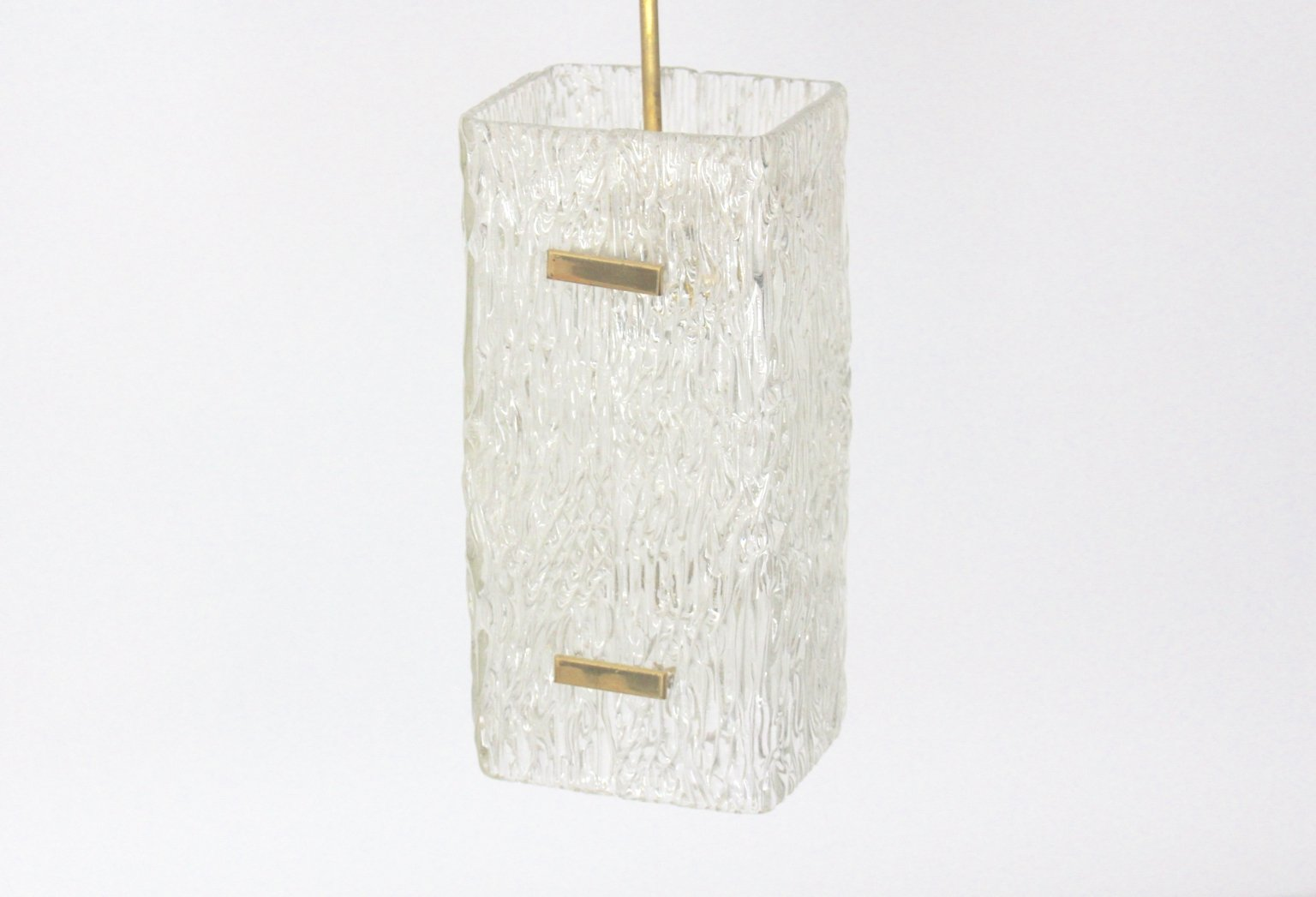 Glas Hängelampe von J.T. Kalmar, 1960er