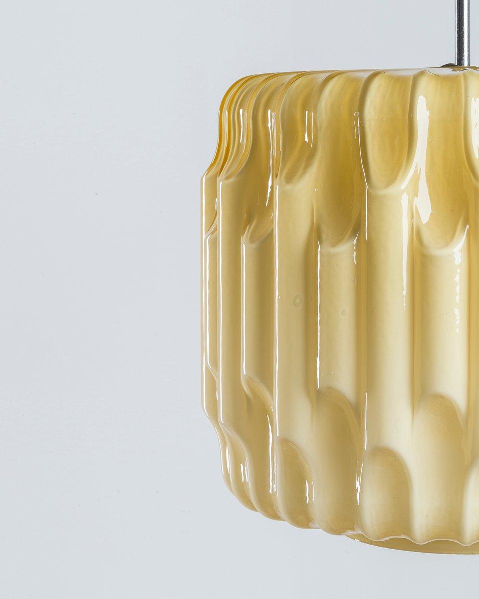 gro e glas h ngelampe 1950er bei pamono kaufen. Black Bedroom Furniture Sets. Home Design Ideas
