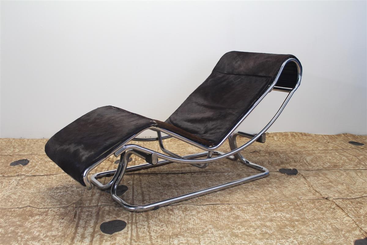 Sessel aus Chrom & Ponyfell von Guido Faleschini, 1970er