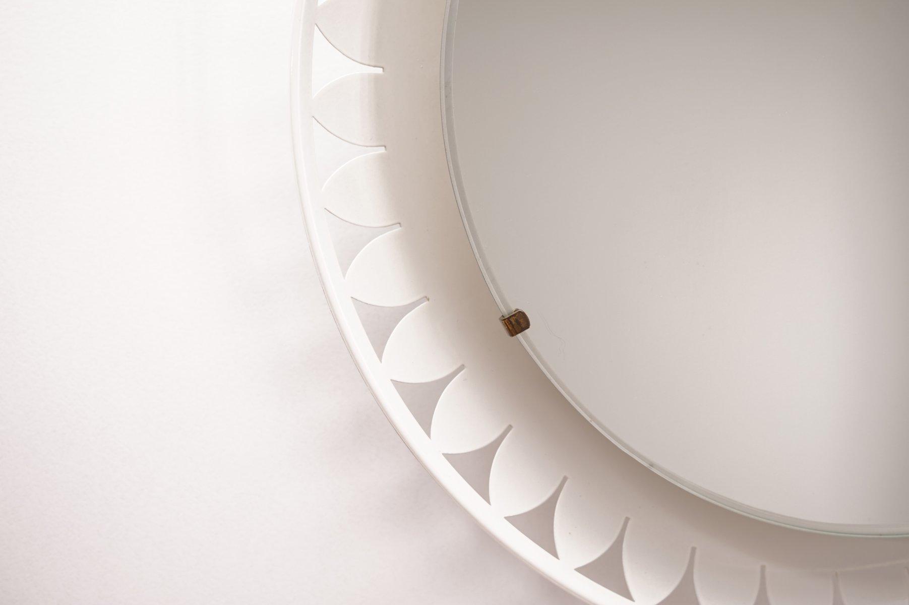 beleuchteter spiegel von ernest igl f r hillebrand 1950er bei pamono kaufen. Black Bedroom Furniture Sets. Home Design Ideas