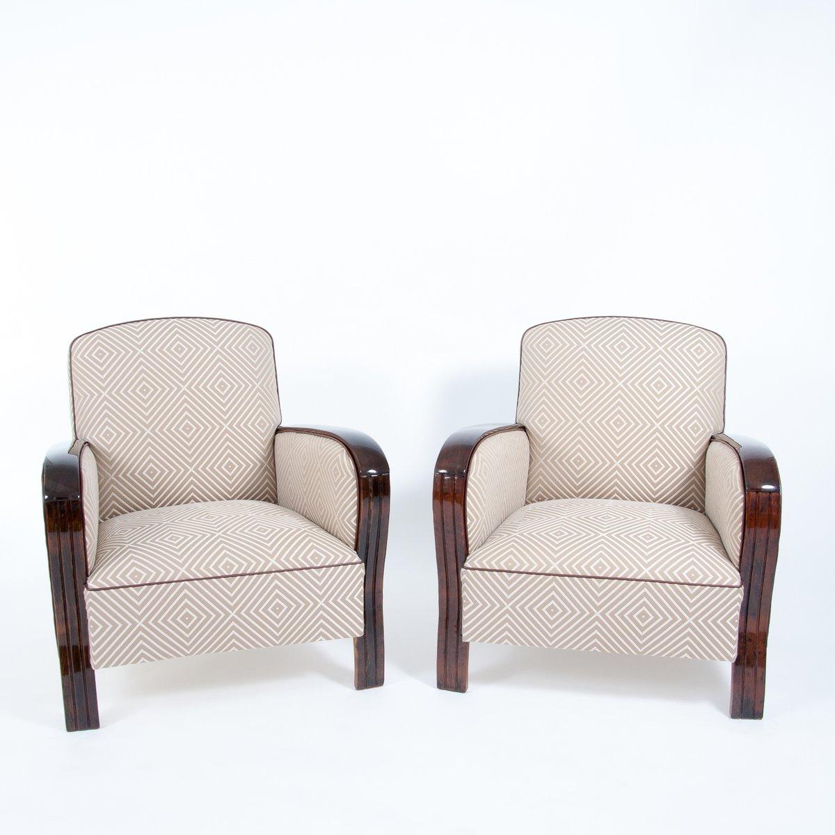 fauteuils art d co france 1930s set de 2 en vente sur pamono. Black Bedroom Furniture Sets. Home Design Ideas