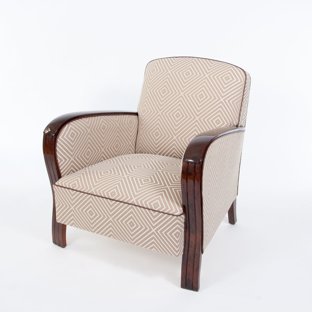 French Art Deco Club Chairs, 1930s, Set Of 2