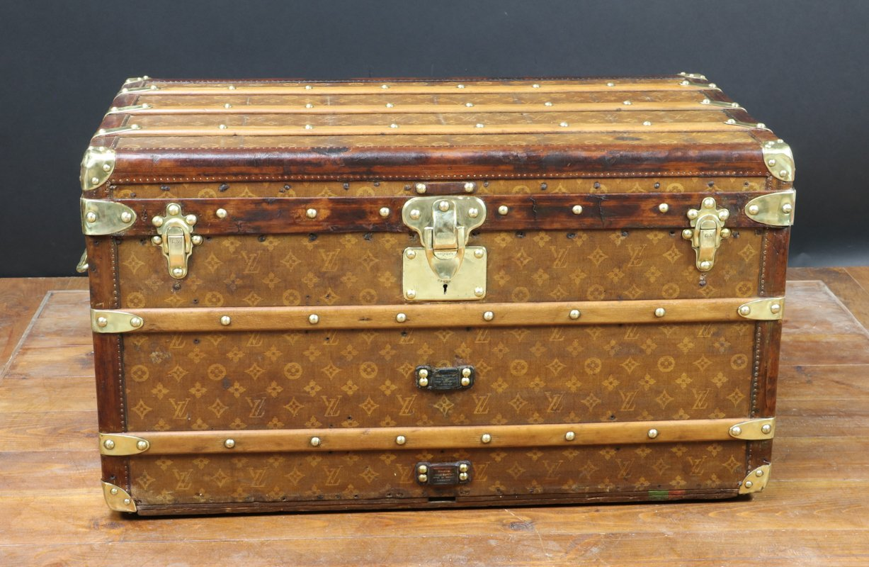 54c295970e61 Antique Steamer Trunk from Louis Vuitton