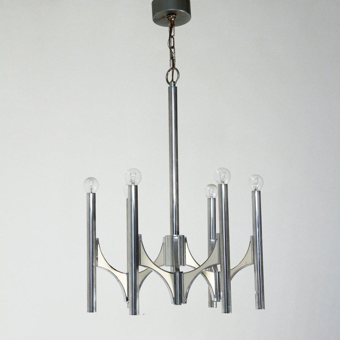Kronleuchter mit Sechs Leuchten von Sciolari, 1970er