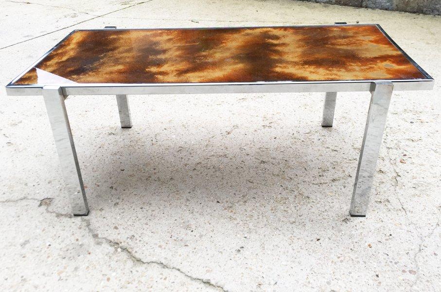 Vintage Chrom Tisch, 1970er