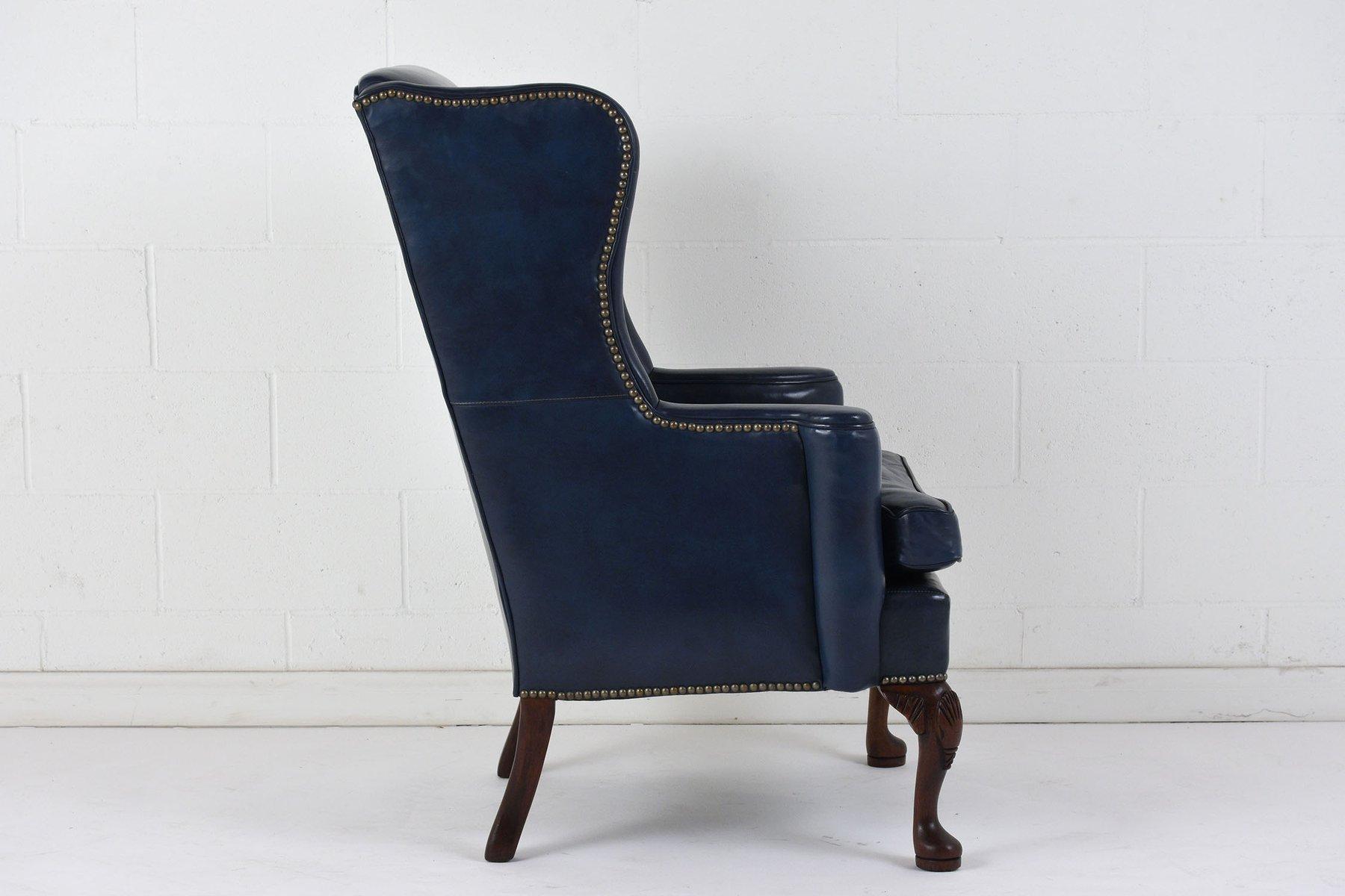 fauteuil oreille en cuir 1970s en vente sur pamono. Black Bedroom Furniture Sets. Home Design Ideas