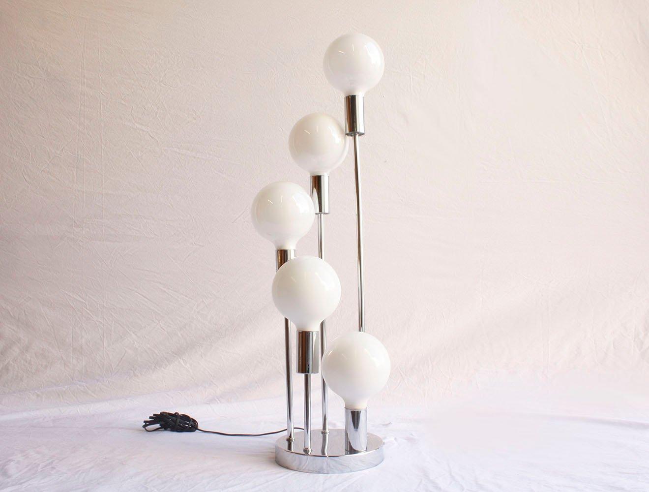 Moderne Mid-Century Chrom Tischlampe